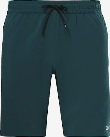 Pantalon de sport Reebok Sport en vert