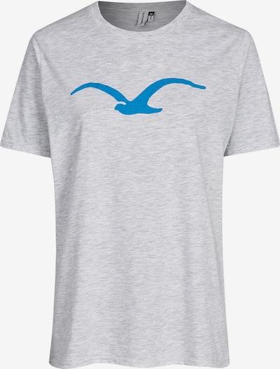 Cleptomanicx Shirt 'Möwe' in blau / graumeliert, Produktansicht
