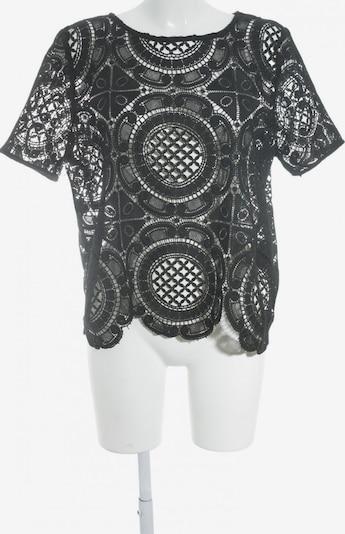 UNBEKANNT Spitzenbluse in L in schwarz, Produktansicht