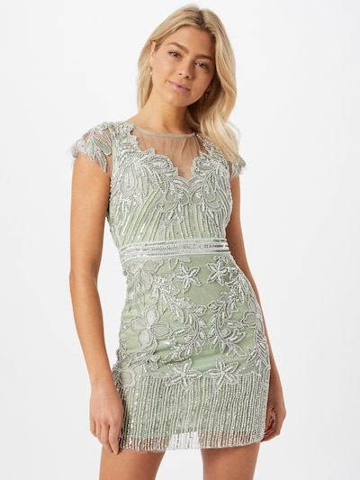Rochie de cocktail A STAR IS BORN pe verde / argintiu, Vizualizare model