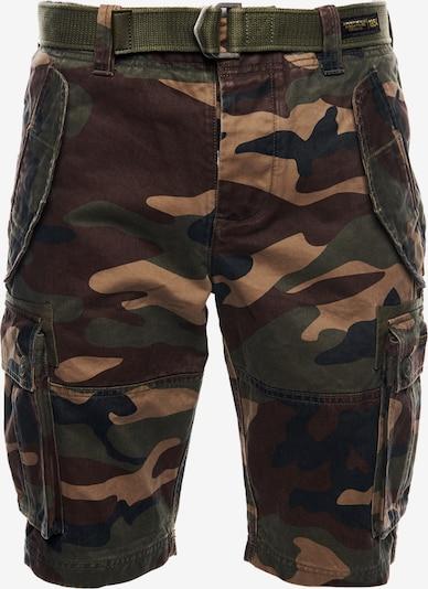 Superdry Shorts in beige / navy / braun / grün, Produktansicht