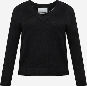 juoda Selected Femme Curve Megztinis 'Lia'