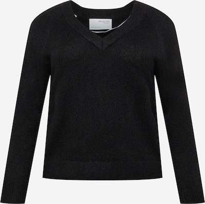 Selected Femme Curve Džemperis 'Lia', krāsa - melns, Preces skats