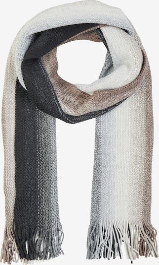DANIEL HECHTER Mehrfarbiger Schal in beige / graphit / hellgrau / perlweiß, Produktansicht
