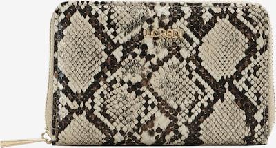 L.CREDI Geldbörse in beige / schwarz, Produktansicht