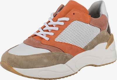 JOLANA & FENENA Sneaker in beige / gold / orange / weiß, Produktansicht