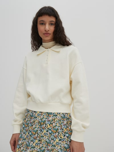 EDITED Sweatshirt 'Mae' in Off white, View model
