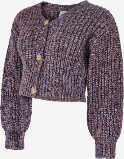 Geacă tricotată 'Marya' MAMALICIOUS pe albastru regal / maro, Vizualizare produs