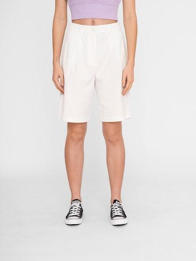 Pantaloni cutați 'Suita' Noisy may pe gri închis / alb, Vizualizare model