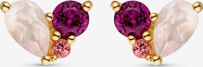 CHRIST Ohrringe in gold / lila / pink / weiß, Produktansicht