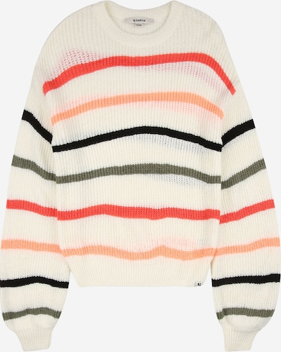 GARCIA Sweater in khaki / coral / peach / black / off white, Item view