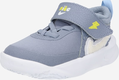 NIKE Sportschuh 'Team Hustle' in gelb / grau / weiß, Produktansicht