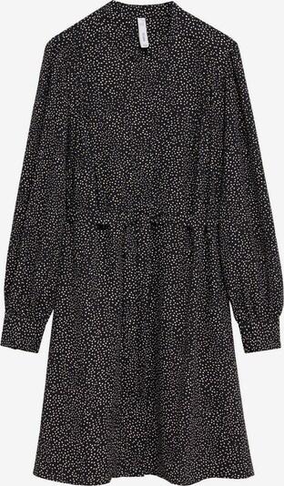 MANGO Košilové šaty 'Bonaire' - černá / bílá, Produkt