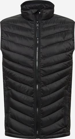 TOM TAILOR Vest in Black