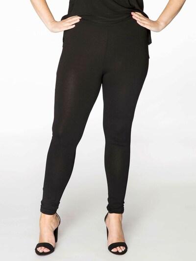 Yoek Leggings 'DOLCE' in schwarz, Modelansicht