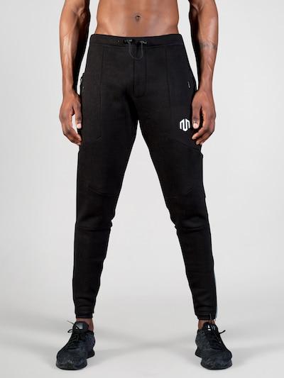 MOROTAI Jogginghose 'NKMR Neotech' in schwarz / weiß: Frontalansicht