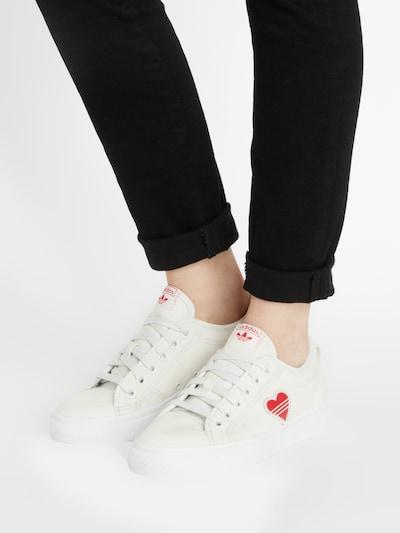 Sneaker low 'Nizza' ADIDAS ORIGINALS pe roșu / alb: Privire frontală