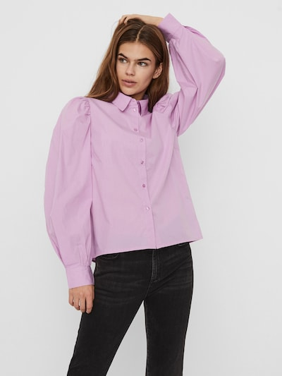 VERO MODA Blouse 'Avery' in de kleur Pastellila, Modelweergave