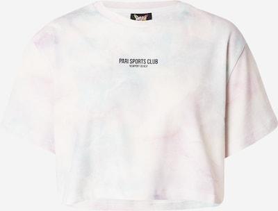 PARI T-shirt 'SPORTS CLUB' en bleu pastel / violet pastel / blanc, Vue avec produit