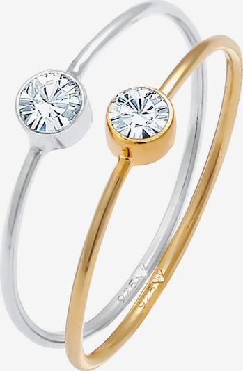 ELLI Ring Kristall Ring, Solitär-Ring in gold / silber, Produktansicht