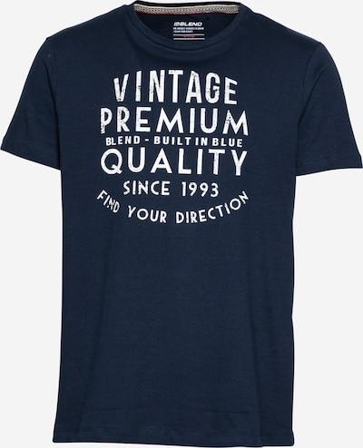 BLEND Тениска в тъмносиньо / бяло, Преглед на продукта
