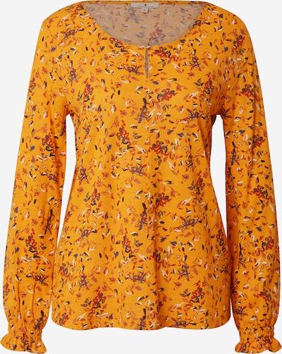 TOM TAILOR T-Shirt in dunkelbraun / gelb / dunkellila / rot / weiß, Produktansicht
