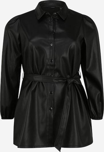 Vero Moda Curve Bluse i sort: Frontvisning