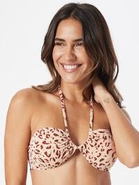 Cotton On Body Bikinitop in kastanienbraun / cappuccino / hellpink