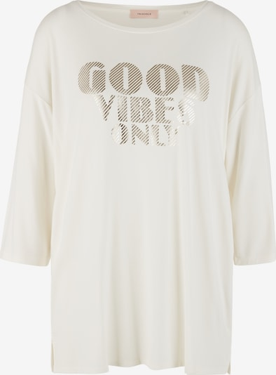 TRIANGLE Shirt in de kleur Crème / Goud, Productweergave