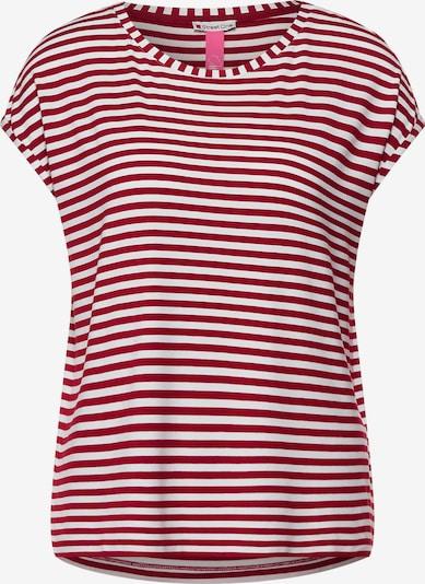 STREET ONE Majica u trešnja crvena / bijela, Pregled proizvoda
