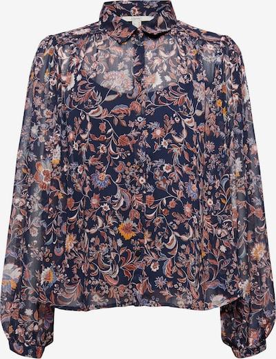 ESPRIT Bluse in nachtblau / mischfarben, Produktansicht