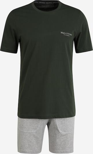 Marc O'Polo Krátke pyžamo - svetlosivá / tmavozelená, Produkt