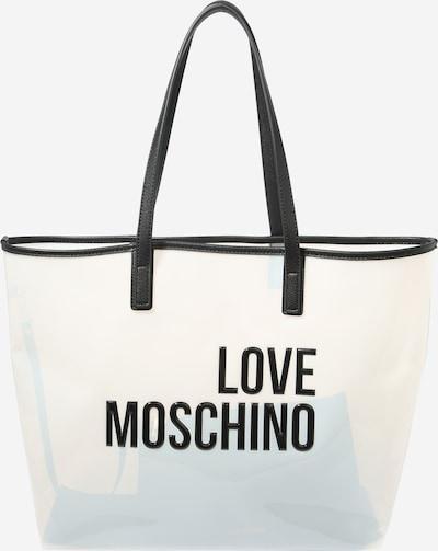 Plase de cumpărături Love Moschino pe negru / alb, Vizualizare produs