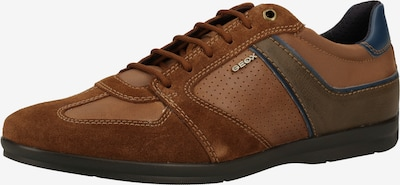 GEOX Sneaker in dunkelblau / braun / khaki, Produktansicht