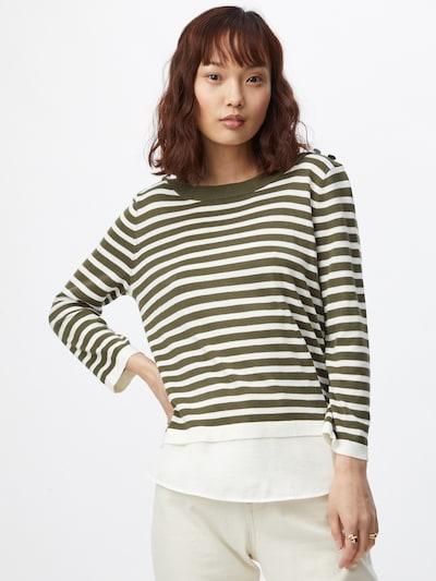 ESPRIT Pullover in khaki / weiß, Modelansicht