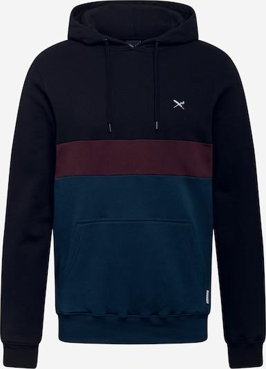 Iriedaily Sweatshirt 'Court' in Navy / Wine red / Black, Item view