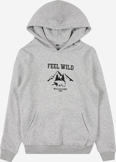 Mister Tee Sweatshirt 'Wild' in graumeliert / schwarz, Produktansicht