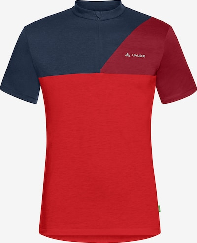 VAUDE T-Shirt 'Tremalzo IV' in navy / rot / dunkelrot, Produktansicht