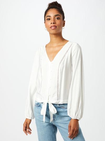 Bluză 'Gina' ABOUT YOU pe alb, Vizualizare model