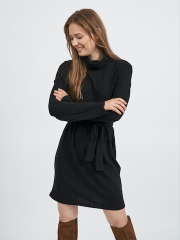 VILA Gebreide jurk 'Elita' in Zwart