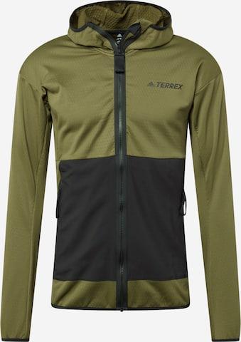 adidas Terrex Funktionele fleece-jas in Groen