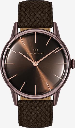 August Berg Uhr 'Serenity Cuppa Brown Dark Brown Perlon 32mm' in dunkelbraun, Produktansicht