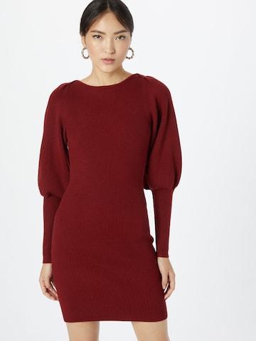 raudona FRENCH CONNECTION Megzta suknelė 'JOSS'