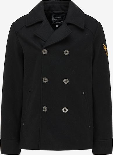 DreiMaster Maritim Tussenjas in de kleur Goudgeel / Stone grey / Zwart, Productweergave