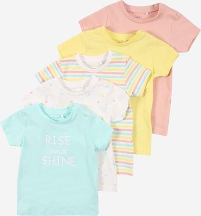 NAME IT Camiseta 'BODIL' en azul claro / amarillo / rosa / blanco, Vista del producto