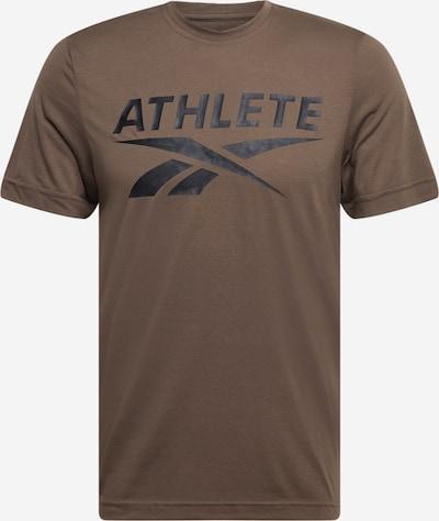 Reebok Sport T-Shirt fonctionnel 'Athlete' en kaki / noir, Vue avec produit