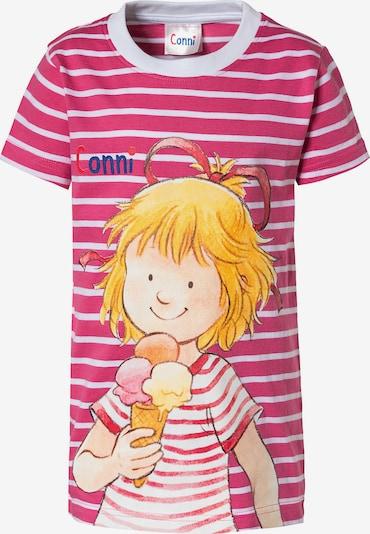 Conni T-Shirt in pink / weiß, Produktansicht