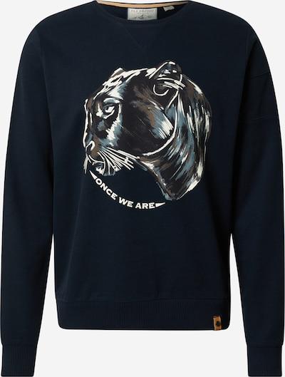 Fli Papigu Sweatshirt 'Der 26' in taubenblau / dunkelblau / braun / weiß, Produktansicht