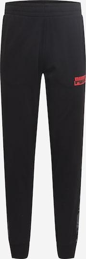 PUMA Pantalón deportivo en gris / gris claro / rojo / negro, Vista del producto