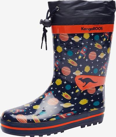 KangaROOS Gumene čizme u mornarsko plava / žuta / petrol / tamno narančasta / crvena, Pregled proizvoda
